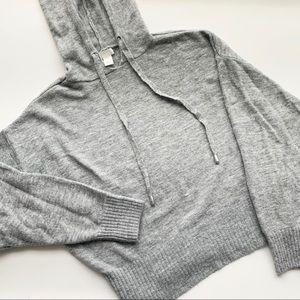 NWOT H&M Knit Grey Sweater Hoodie